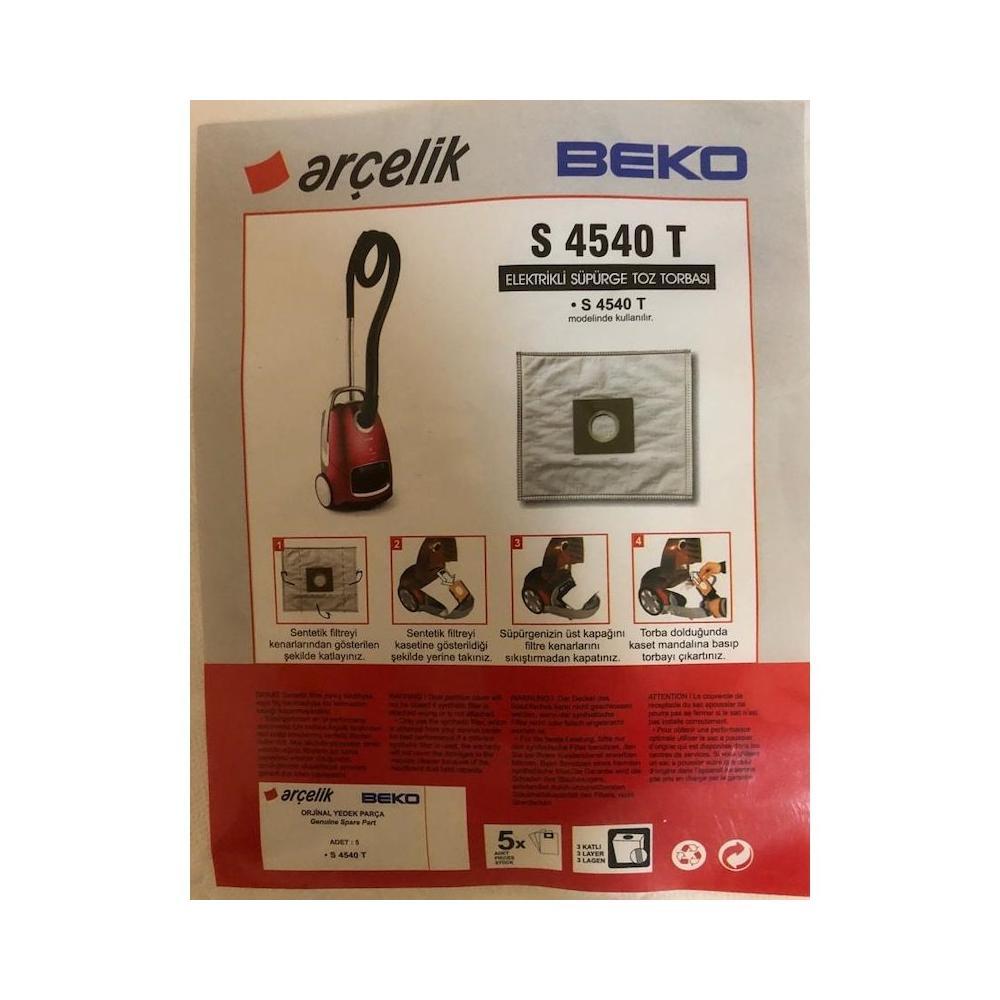 Arçelik S 4540 T 20 Adet Süpürge Torbası Fiyatları