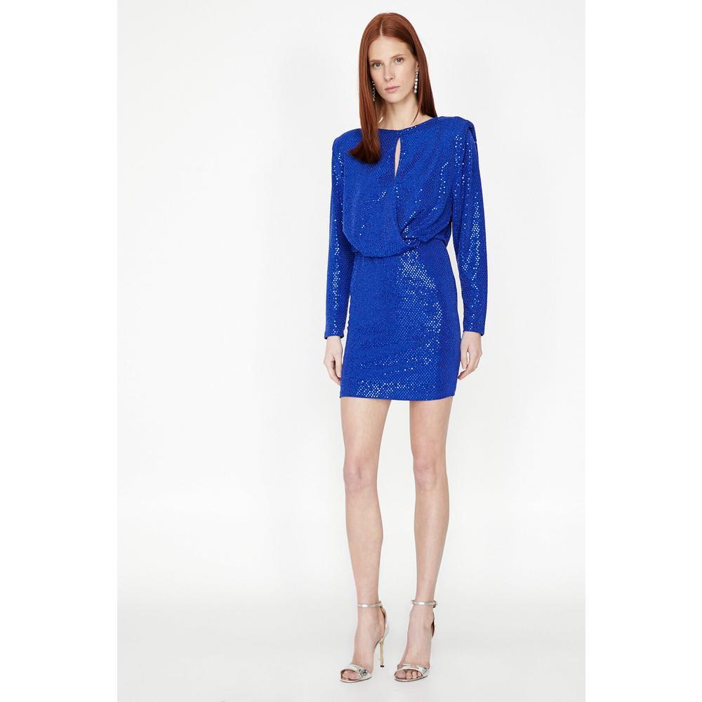 27b14d2ff14ce En Ucuz Koton 9KAK84921FK Saks Mavisi Kadın Elbise Fiyatları