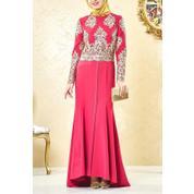 7e565f0294598 Lady Nur Kadın Abiye Elbise Fuşya 3001-43 LADY-NUR-3001