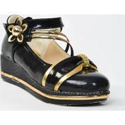 b34bb02f6ada1 Teksoy 209 Siyah Cırtlı Topuklu Kız Çocuk Ayakkabı