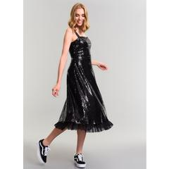 a51e9592f753c En Ucuz Agenda ALB007 Payetli Abiye Siyah Elbise Fiyatları