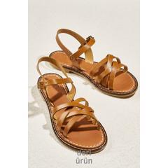 a3aad37a37217 En Ucuz Bambi H0602809003 Taba Deri Kadın Sandalet Fiyatları