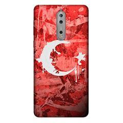 En Ucuz Cekuonline Nokia 8 Boya Ay Yildiz Desenli Silikon Kilif