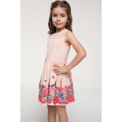 6d3b316d0fb8f ... Defacto I8933A618HSPN300 Prenses Model Etek Ucu Çiçek Desenli Kız Çocuk  Elbise
