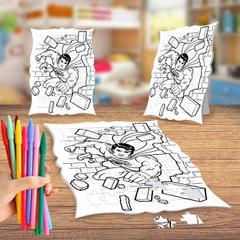 En Ucuz Kahraman Süpermen Boyama Puzzle Tablo Fiyatları