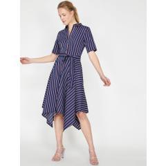 44b7354a28c5e En Ucuz Koton 9YAK86209IW03M Çizgili Kadın Elbise Fiyatları