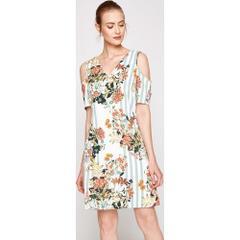 aae1bce721411 En Ucuz Koton 7YAK88127PW Beyaz Kadın Elbise Fiyatları