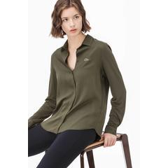 45b5ab2957143 En Ucuz Lacoste CF1915 Yeşil Kadın Gömlek Fiyatları