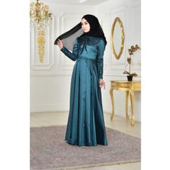 2fabfcf2a94fb En Ucuz 0426-04 Payetli Abiye Yeşil Elbise Fiyatları