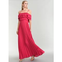 bdc45ec9216d8 En Ucuz People By Fabrika ATN050417 Fuşya Abiye Elbise Fiyatları