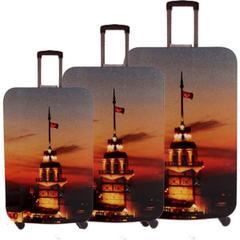 En Ucuz Vk Tasarım 010 16 Renkli Desenli Valiz Fiyatları