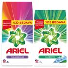 Ariel Dağ Esintisi 7 kg+Parlak Renkler 9 kg Toz Çamaşır Deterjanı