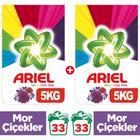 Ariel Mor Çiçekler 5 kg 2'li Toz Çamaşır Deterjanı