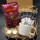 Beyaz Kupa & Mesh Stick Kahve & Bonte Çikolata Hediye Seti