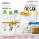 Biobellinda Mis Çamaşır Paketi 3x Beyazlatıcı Biomoleküler Çamaşır Sıvısı Yumuşatıcı