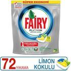 Fairy Platinum Bulaşık Kapsülü Limon Kokulu 72 Yıkama