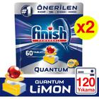 Finish Quantum Limonlu 60x2 120'li Bulaşık Makinesi Tableti