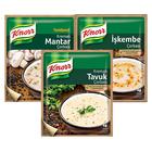 Knorr Hazır Çorba Kremalı Tavuk,Kremalı Mantar,İşkembe