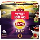 Lipton Filiz Çay Demlik 100'lü + Lipton Earl Grey 40'lı Demlik Poşet Çay