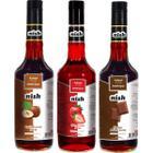 Nish Kahve Fındık 3x700 ml Çilek Çikolata Şurupları