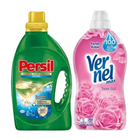Persil 22 Yıkama 1,54 lt Premium Jel Hijyen+ 60 Yıkama 1,44 lt Vernel Max Taze Gül