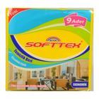 Softtex 9'lu Sarı Temizlik Bezi