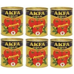 Akfa 6X850 gr Gold Süper Domates Salçası