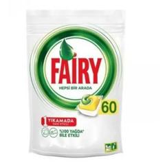 Fairy Hepsi Bir Arada Limon Kokulu 60'lı Bulaşık Makinesi Tableti