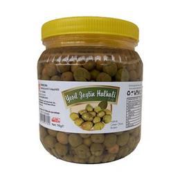 1 kg Hatay Yeşil Zeytin Halhalı Kırılmış