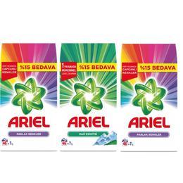 Ariel 7 Kg Dağ Esintisi 14 Kg Parlak Renkler Toz Çamaşır Deterjanı