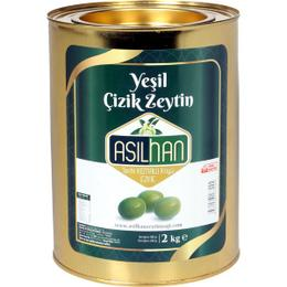Asilhan 2 kg Yeşil Çizik Zeytin