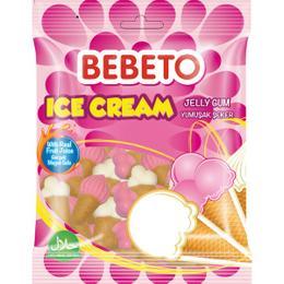 Bebeto Ice Cream Beyaz Pembe 1 kg Yumuşak Şeker