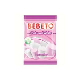 Bebeto Pink And White Marshmallow 12x75 gr Yumuşak Şeker