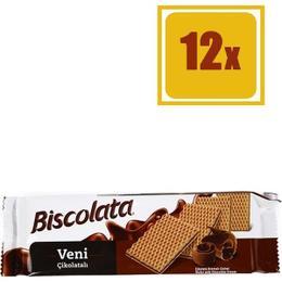 Biscolata Veni Çikolatalı Gofret 50 gr X 12 Adet