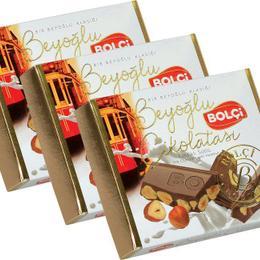 Bolçi 6 x 90 gr Sütlü Fındıklı Beyoğlu Çikolatası