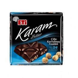 Eti Karam 54 Bitter 60 gr Kakaolu Çifte Kavrulmuş Fındıklı Çikolata