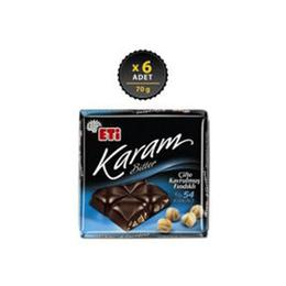 Eti Karam 6x70 gr %54 Kakaolu Fındıklı Bitter Çikolata