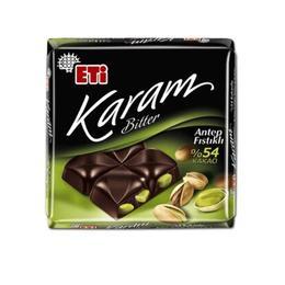 Eti Karam Bitter %54 Antep Fıstıklı 60 gr Kare Çikolata