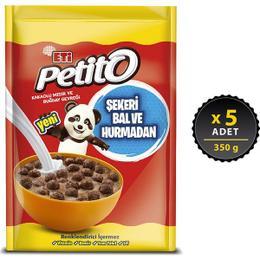 Eti Petito 350x5 gr Kakaolu Mısır Ve Buğday Gevreği