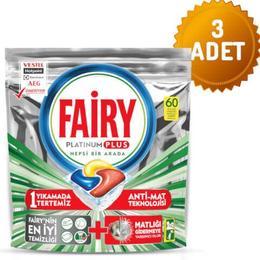 Fairy Platinum Plus 3x60 Adet Bulaşık Makinesi Tableti