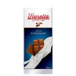 Fiorella 10x80 gr Tablet Sütlü Çikolata