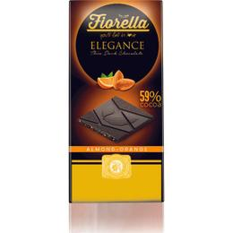 Fiorella Elegance Bademli Portakallı 70 gr Bitter Çikolata