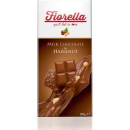 Fiorella Fındıklı Tablet 10x80 gr Sütlü Çikolata