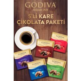 Godiva 5'li Kare Çikolata Paketi