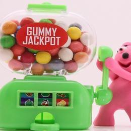 Gummy Jackpot Yeşil Yuvarlak Sakız 50 gr