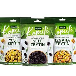 Komili 170 gr Izgara Zeytin + 170 gr Kekikli Zeytin + 170 gr Sele Zeytin