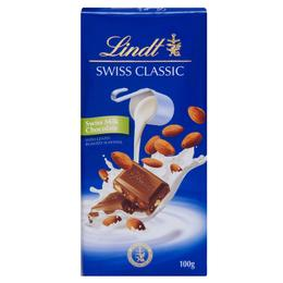 Lindt 100 gr Bademli Sütlü Çikolata