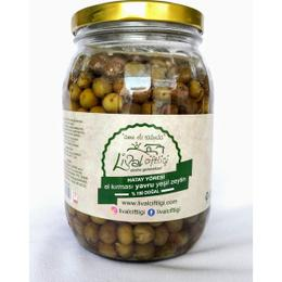 Lival Çiftiliği 1 kg Yavru El Kırması Halhalı Yeşil Zeytin