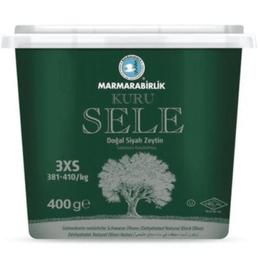 Marmarabirlik 3 x 400 gr Kuru Sele Siyah Zeytin Kutu