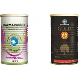 Marmarabirlik 800 gr Az Tuzlu Siyah Zeytin Teneke + Marmarabirlik 800 gr Gold Teneke 2'li Set